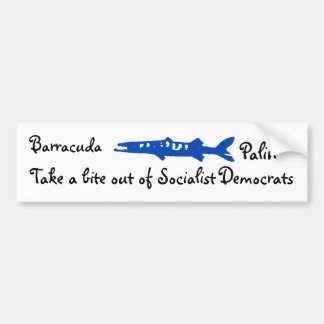 barracuda, Barracuda , Palin, Take a bite out o... Bumper Sticker