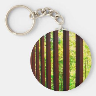 Barred from Nature Basic Round Button Key Ring
