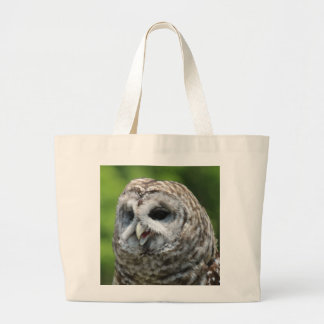 Barred Owl Canvas Bags