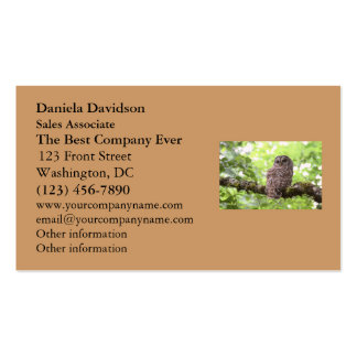 Barred Owl Business Cards