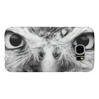 Barred Owl in Black and White Samsung Galaxy S6 Cases
