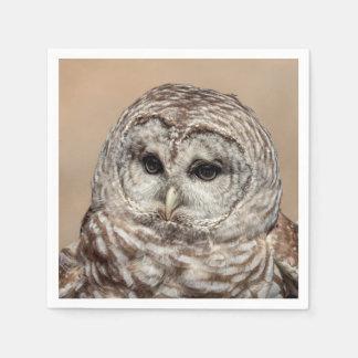 Barred Owl in flight Disposable Serviette