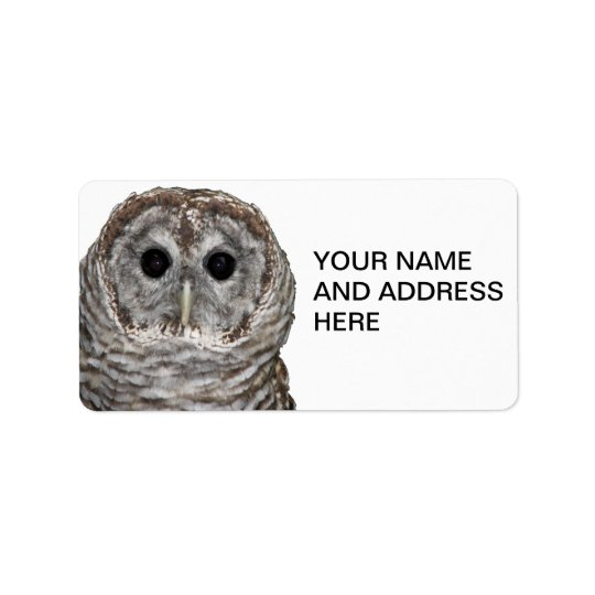 Barred Owl Label