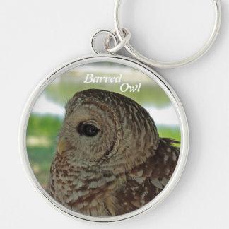Barred Owl photo keychain