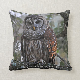 Barred Owl Pillow Cushion