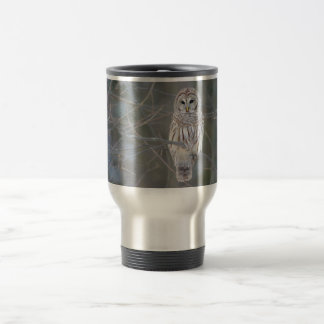 Barred Owl Strix Varia Stainless Steel Travel Mug