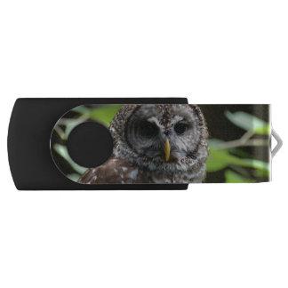Barred Owl Swivel USB 2.0 Flash Drive