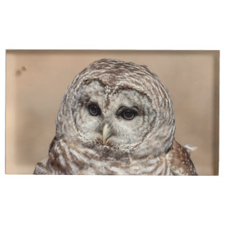 Barred Owl Table Card Holder