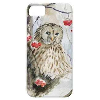 Barred Owl watercolor painting iPhone 5 Case
