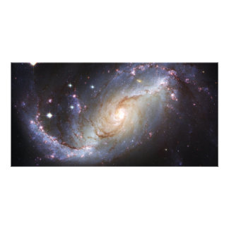 Barred Spiral Galaxy NGC 1672 Constellation Dorado Personalized Photo Card