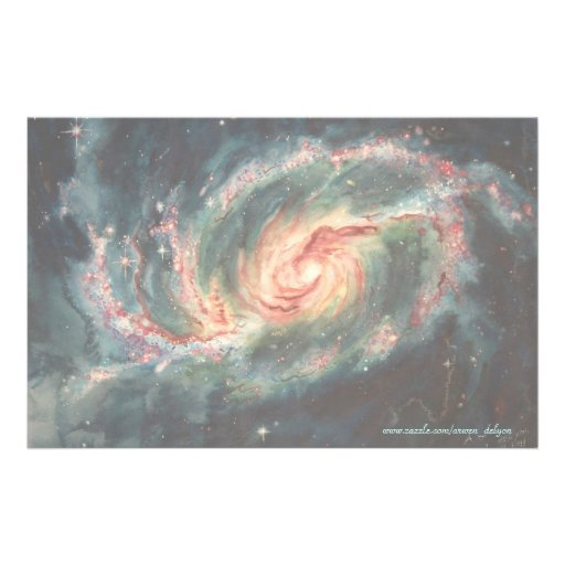 Barred Spiral Galaxy Stationery