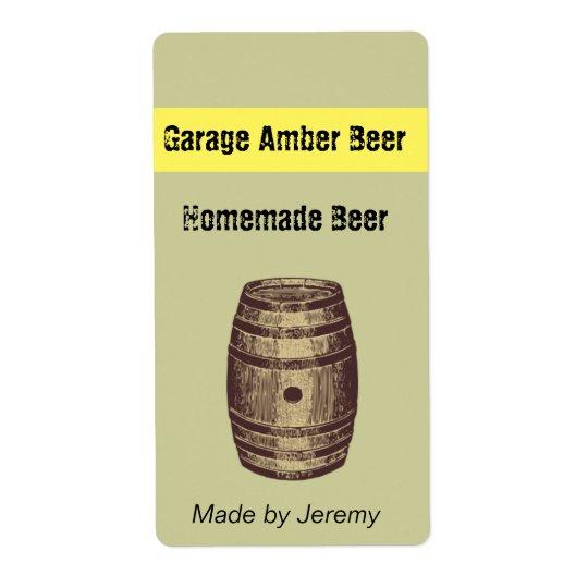 Barrel Beer Label Shipping Label