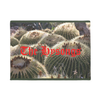 Barrel Cacti in the Sun door mat