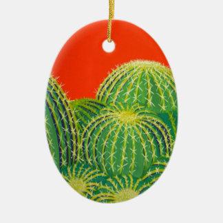 Barrel Cactus Ceramic Ornament
