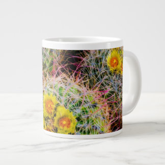 Barrel cactus close up, California Large Coffee Mug