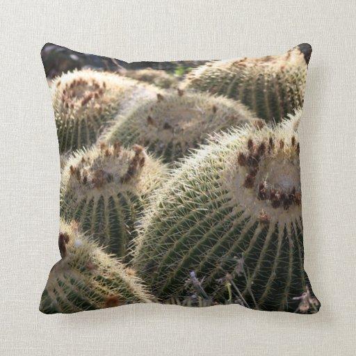 Barrel Cactus Throw Pillows