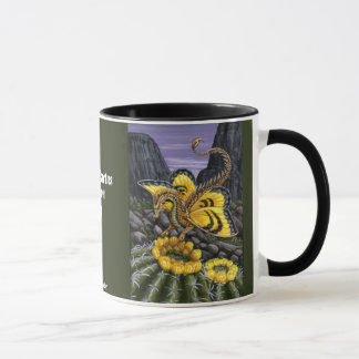 Barrel Cactus Dragon Fly Mug