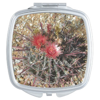 Barrel Cactus Fishhook Red Compact Mirrors