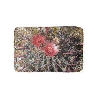 Barrel Cactus Fishhook Red Bath Mats