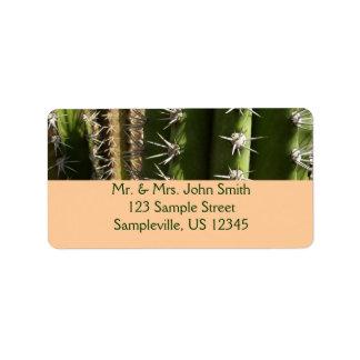 Barrel Cactus II Desert Nature Photo Address Label