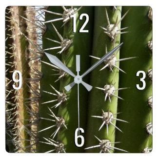 Barrel Cactus II Desert Nature Photo Wall Clock