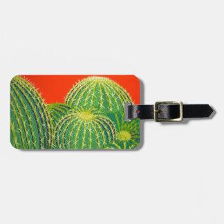 Barrel Cactus Travel Bag Tags