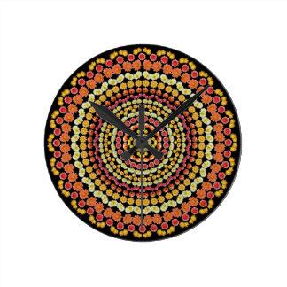 Barrel Cactus Mandala 2 Clock