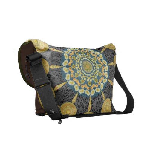 Barrel Cactus Mandala Array Messenger Bag