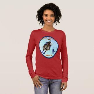 BARREL HORSES ROCK Oval Long Sleeve T-Shirt