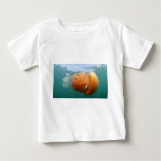 Barrel Jellyfish Swims With Mackerel Baby T-Shirt