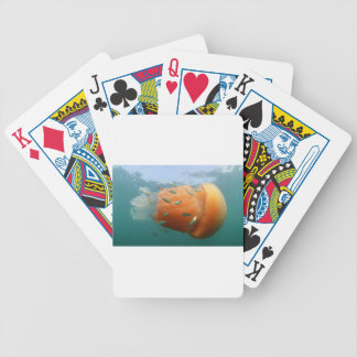Barrel Jellyfish Swims With Mackerel Bicycle Playing Cards