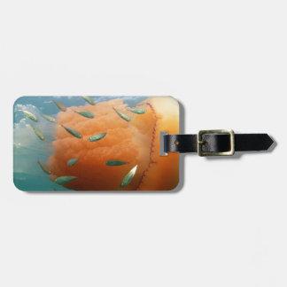 Barrel Jellyfish Swims With Mackerel Luggage Tag
