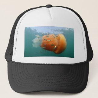 Barrel Jellyfish Swims With Mackerel Trucker Hat