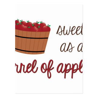 Barrel Of Apples Postcard