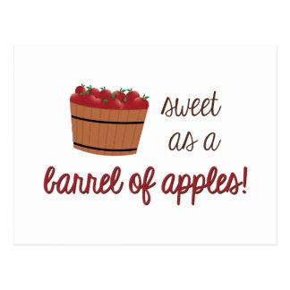 Barrel Of Apples Postcard