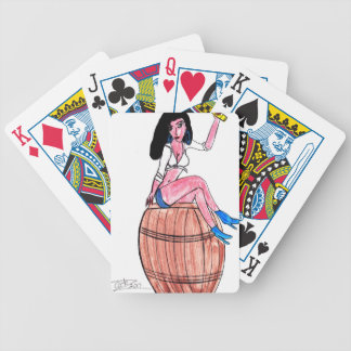Barrel of Beer Bicycle Playing Cards