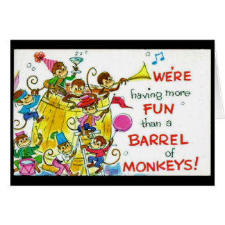 Barrel of Monkeys Fun Note Card