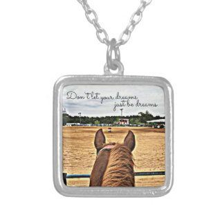 Barrel Racer Cowgirl Motivational Quote Necklace