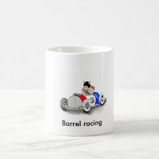 barrel racing basic white mug
