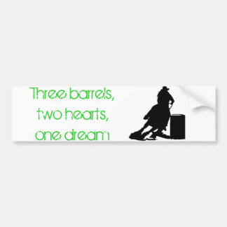 Barrel Racing Bumper Sticker