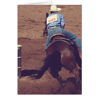 Barrel Racing Card