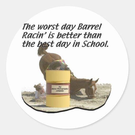 Barrel Racing - Crash V School Stickers
