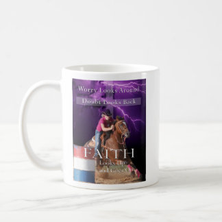Barrel Racing Faith Design Coffee Mug