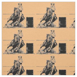 Barrel Racing Horse Fabric