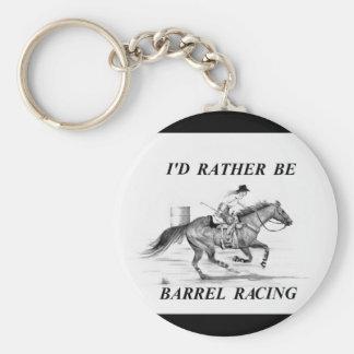 Barrel Racing Key Chain