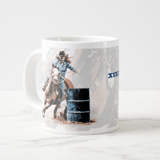 Barrel Racing Large Coffee Mug
