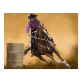 Barrel Racing Postcard