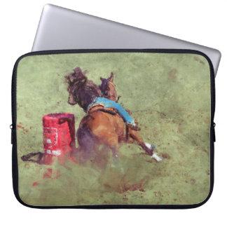 Barrel-Racing Rodeo Cowgirl Designer #Gift Laptop Computer Sleeve