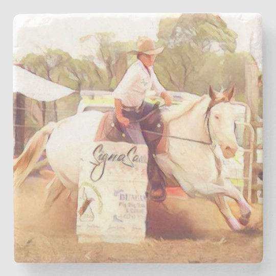 Barrel Racing Stone Coaster