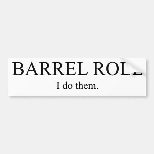 Barrel Roll 3 Bumper Stickers